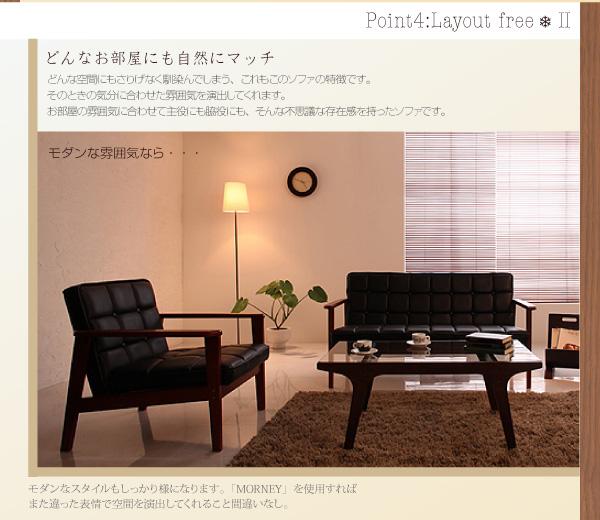 【送料無料】おしゃれな人気ソファ・木肘レトロソファ【BARNEY】バーニー レトロなデザインでお部屋をカフェ風に・・・